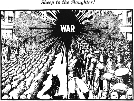 sheep to the slaughter 1914 by Winsor McCay