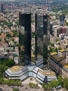 Twintowers of Deutsche Bank Headquarter in Frankfurt a.M.