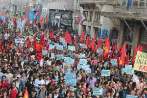 Massendemo in Istanbul