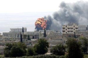 kobane einschlag